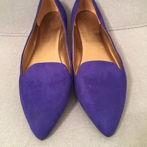 Nine West Pointed Flats - Cobalt Blue